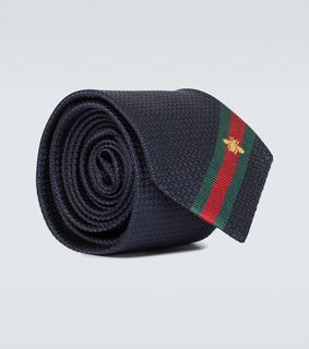 Gucci - Krawatte aus Seide mit Webstreifen