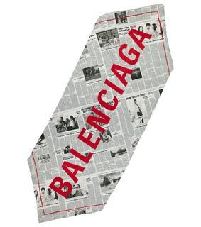 balenciaga - Bedrucktes Seidentuch Happy News