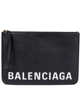 balenciaga - Bedruckte Clutch aus Leder