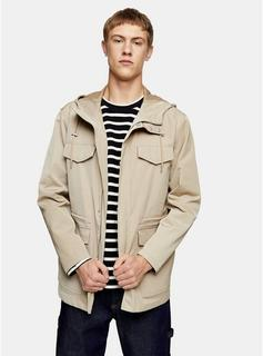Topman - Mens Stone Hooded Pocket Jacket, Stone
