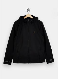 Farah - Mens Farah Black Soft Shell Jacket*, Black