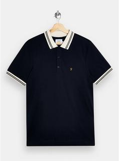 Farah - Mens Farah Navy Short Sleeve Polo*, Navy