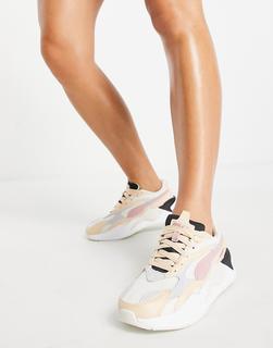 puma - RS-X3 – Sneaker in Creme und Rosa