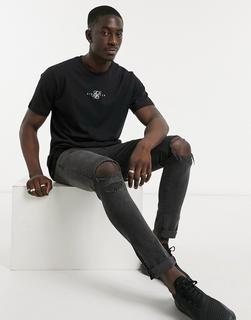 SikSilk - Essential – T-Shirt in Schwarz