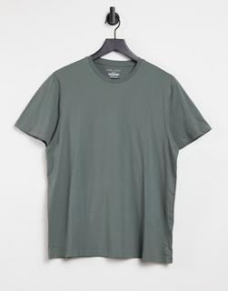 New Look - T-Shirt mit Rundhalsausschnitt in Khaki-Grün