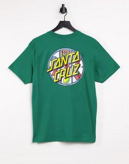 Santa Cruz - Jackpot Dot – T-Shirt in Grün