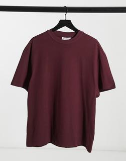 Weekday - Great – T-Shirt in Burgunderrot