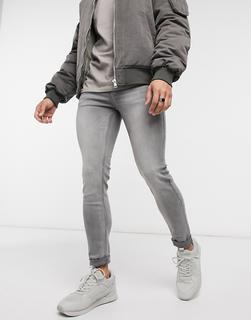 Topman - Graue Spray On-Jeans