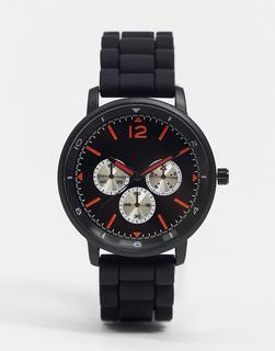 Topman - Silikon-Herrenarmbanduhr in Schwarz