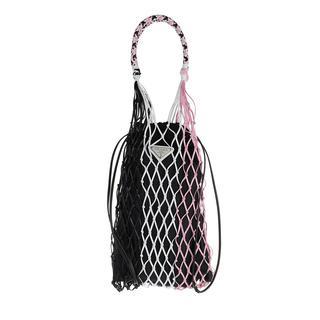 Prada - Beuteltasche - Net Tote Bag Nero/Rosa - in schwarz - für Damen