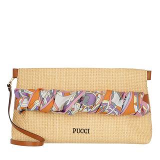 EMILIO PUCCI - Umhängetasche - Clutch Bag Solid Beige+Melone - in beige - für Damen