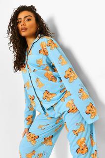 boohoo - Womens Disney König Der Löwen Pj-Set Aus Shirt Und Hose - Blau - 38, Blau