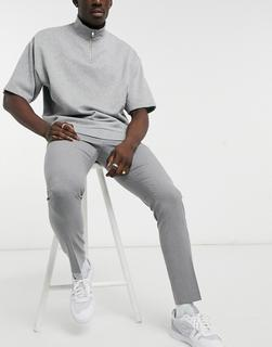ASOS DESIGN - Anzughose mit engem Schnitt in Grau