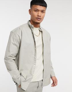 ASOS Unrvlld Supply - ASOS – Unrvlld Spply – Oversize-Oxfordhemd im Stil der 90er aus Bio-Baumwolle in Beige