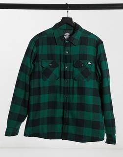 Dickies - Lansdale - Legere, langärmlige Hemdjacke mit grünem Karomuster