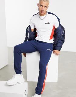 Ellesse - Ross – Jogginghose in Marineblau mit Farbblockdesign