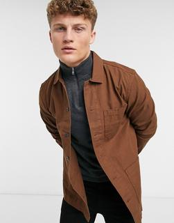Burton Menswear - Hemdjacke in Rosa mit 3 Taschen