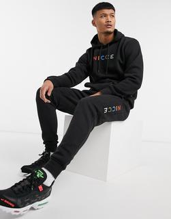 NICCE - Denver – Jogginghose in Schwarz mit buntem Logo