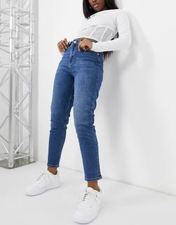 NA-KD - Mom-Jeans in Mittelblau aus Bio-Baumwolle