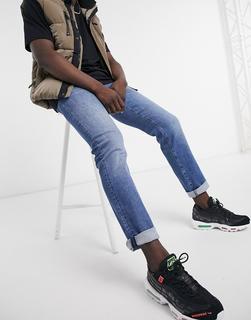 Boss - Maine – Jeans in regulärer Passform in Hellblau