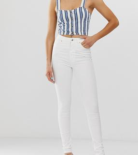 Monki - Oki – Weiße Skinny-Jeans aus Bio-Baumwolle mit hohem Bund
