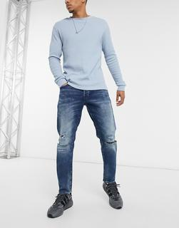 G-Star - Loic N – Legere, schmal zulaufende Jeans-Blau