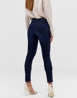 Salsa - Figurformende, enge Bauch-weg-Jeans-Blau