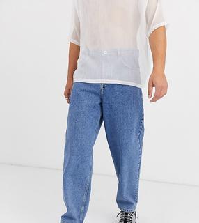 Collusion - x004 – Ausgestellte Jeans in Stone-Waschung-Blau