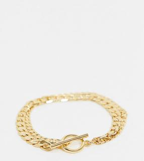 Orelia - Mehrreihiges, vergoldetes Kettenarmband