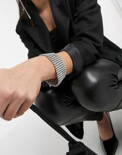 True Decadence - Kristallenes Armband-Silber