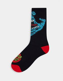 Santa Cruz - Screaming Hand – Socken in Schwarz