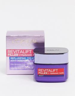 Loreal - L'Oreal Paris – Revitalift Filler – Anti-Aging-Nachtcreme mit aufpolsternder Wirkung-Keine Farbe