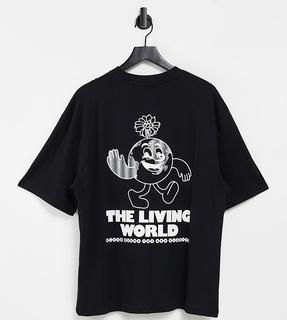 Collusion - Unisex – Übergroßes T-Shirt mit Print in Schwarz