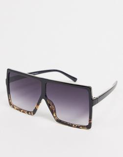 SVNX - Eckige Sonnenbrille in Braun