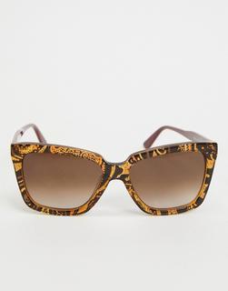 Etro - Braun marmorierte, ovale Sonnenbrille