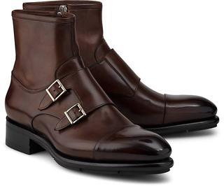 Santoni - Double-Monk Stiefelette in dunkelbraun, Business-Schuhe für Herren