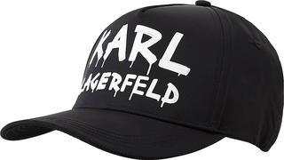 KARL LAGERFELD - Schirmmütze Graffiti Logo Cap in schwarz, Mützen & Handschuhe für Damen
