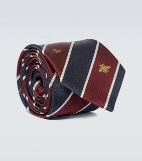 Gucci - Bestickte Krawatte aus Seide