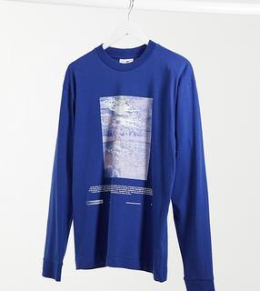 Collusion - Unisex – Langärmliges Shirt mit Print in Dunkelblau