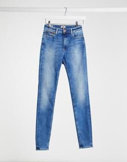 Tommy Jeans - Santana – Blaue Skinny-Jeans mit hohem Bund