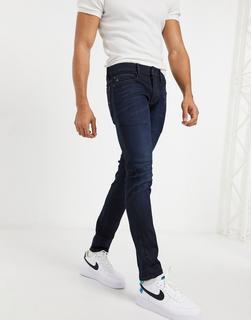G-Star - Lancet – Eng geschnittene Jeans mit dunkler Waschung-Blau
