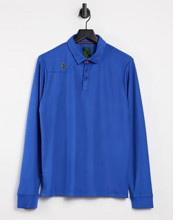 Luke - Chandler – Langärmliges Polohemd-Blau