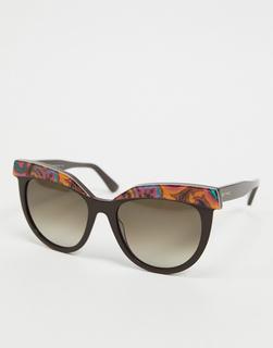 Etro - Runde violette Sonnenbrille mit Aufdruck-Lila