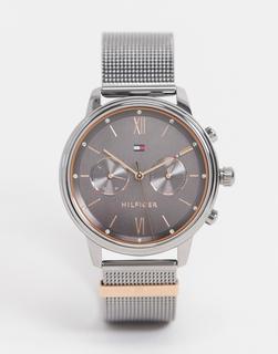 TOMMY HILFIGER - Silberfarbene Uhr mit Mesh-Armband 1782304