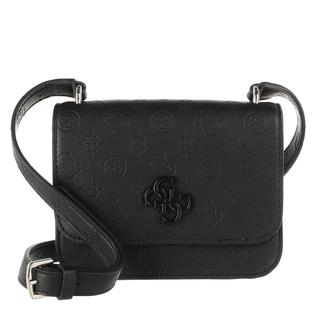 guess - Umhängetasche - Noelle Mini Flap Crossbody Bag Black - in schwarz - für Damen