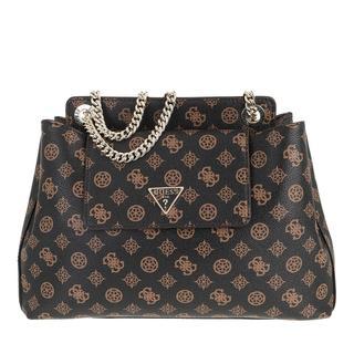 guess - Satchel Bag - Sandrine Shoulder Satchel Bag Mocha - in braun - für Damen