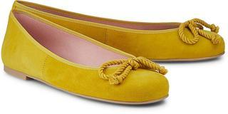Pretty Ballerinas - Ballerina Rosario in gelb, Ballerinas für Damen