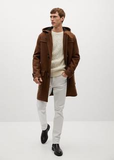 MANGO MAN - Langer mantel aus recycelter wolle