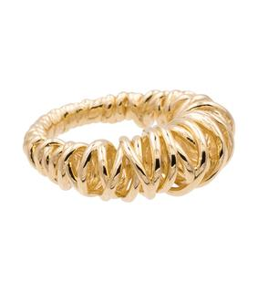Bottega Veneta - Vergoldeter Ring Coil aus Sterlingsilber