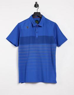 Luke - Eastoe – Gestreiftes Polohemd aus Twill-Blau